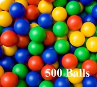 500x Plastic Balls for Ball Pits Childrens Kids Multi-Coloured Toys Play Pool