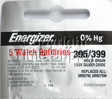 5 pcs 395 / 399 Energizer Watch Batteries SR927SW SR927  0% HG