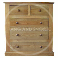 HAND MADE VICTORIAN SOLID PINE 2+3 DRAWER CHEST(ASSEMBLED)