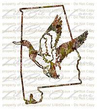 Camouflage Camo Alabama Duck Hunter Hunting Vinyl Decal Sticker Fowl