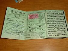 Permis de pêche Carte avec timbre 1982