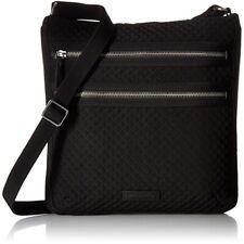 Vera Bradley Triple Zip Shoulder Bag in Black