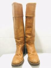 MISS CAPEZIO Vintage Cowboy Riding Leather Tall Boots USA Made 7.5 8