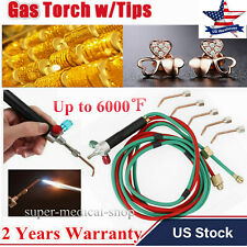 Jewelers Jewelry Mini Micro Gas Torch Welding Soldering Cutting Tools w/ 5 Tips