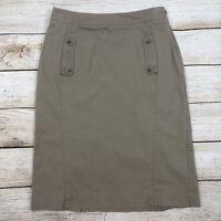 Banana Republic Women's Pencil Skirt Size 2 High Waisted Straight Tan Khaki