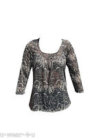 LADIES GORGEOUS MARKS AND SPENCER 3/4 SLEEVE ANIMAL PRINT PLEATED TOP TSHIRT M&S