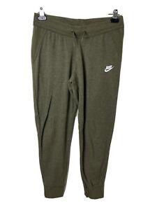 Nike Sportswear Essential Womens Fleece Pants Medium Joggers Olive