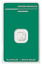 1 Gramm Platinbarren ARGOR-HERAEUS  999.5 mit Zertifikat / Aurofix