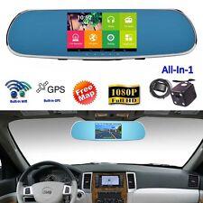Smartwild W850 WIFI GPS Sat Nav Rear View Mirror Dash Cam DVR + Backup Camera