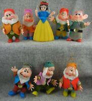 Vintage Snow White and Seven Dwarfs Disney Christmas Ornaments Set of 8