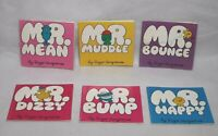 Rare Mr Men Bundle x 6 from 1971 and 1976 Roger Hargreaves Small Coloured Covers
