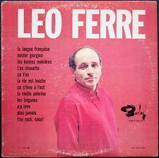 LEO FERRE RARE LP Canada LA LANGUE FRANCAISE Orchestre PAUL MAURIAT BARCLAY 2018