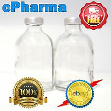 5 x  STERILE 50 ml GLASS VIALS STERILIZED USING A MILLENIUM B2 AUTOCLAVE (HCG)
