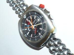 Sicura Chrono Herrenarmband Uhr Durchmesser ohne Krone ca.44mm