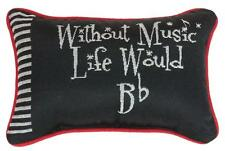 """WITHOUT MUSIC LIFE WOULD BE FLAT Throw Pillow 12.5"""" x 8.5"""", by Manual Weavers"""