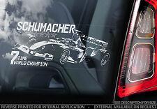 Michael Schumacher-F1 Finestra Auto Adesivo-FERRARI SCHUMI FORMULA 1-TYP1
