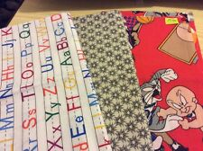 "3 pcs cotton fabric from America. 19x22"",18x20"",18""x22"". Pack 10"
