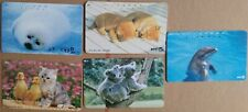 ⭐️ 5 JAPANESE ANIMAL PHONECARDS ⭐️ ALL DIFFERENT ⭐️ JAPAN PHONE CARDS ⭐️