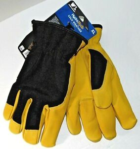 Wells Lamont 1260XL HydraHyde Cold Weather Water Resistant Goatskin Gloves XL