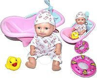 Baby Born Interactive Dolls with Accessories & Lifelike Functions Bath Play Set