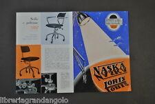 Brossura Pubblicitaria Arredamento Naska Loris Milano Lampade Sedie  Design 1950