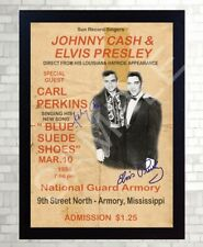 Elvis Presley and Johnny Poster Vintage SIGNED Framed Photo PRINT reprint POSTER