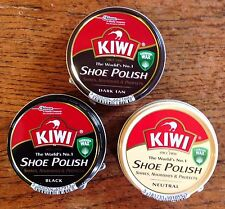 KIWI SHOE BOOT LEATHER POLISH X1 BLACK DARK TAN & NEUTRAL IDEAL FOR SCHOOL SHOES