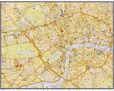 A-Z Superscale Map Of Inner London -  Laminated Wall Map For Business