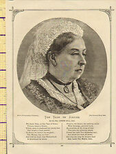 c1860 VICTORIAN PRINT ~ QUEEN VICTORIA ~ THE YEAR OF the JUBILEE ~ CANON BELL