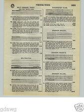 1932 PAPER AD Heddon's Split Bamboo Fly Fishing Rod Granger Deluxe Favorite
