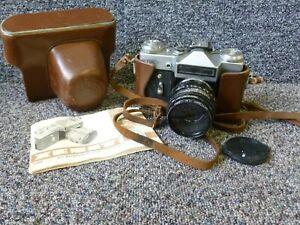 Vintage Zenit E SLR Camera & Helios 44 2/58 Lens