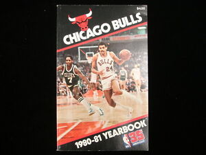 1980-81 Chicago Bulls NBA Basketball Yearbook