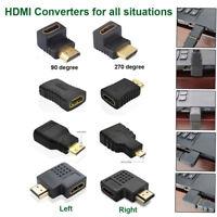New HDMI Male TO HDMI Female Adapter Converter Mini Micro HDMI Cable Converter