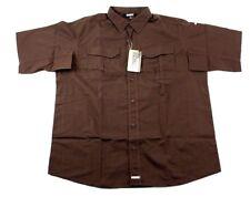 BLACKHAWK! Men's LT2 3XL Tactical Shirt Chocolate Brown Collared Short Sleeve