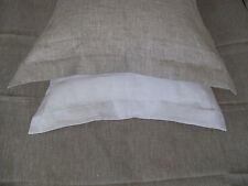 100% Linen Oxford Pillow Сase Slip Sham Cushion Cover Pure Natural European