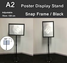 A2 Poster Floor Stand Snap Frame Pedestal Sign Holder Display Adjustable Height