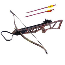 120 Pound Draw Wood Camo Recurve Crossbow w/ 2 Bolts | Archery Hunting Cross Bow