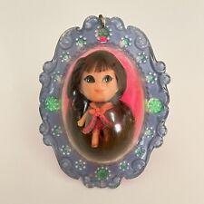 Liddle Kiddles Lucky Locket Vintage Mattel Loretta Doll Blue Pastel Series