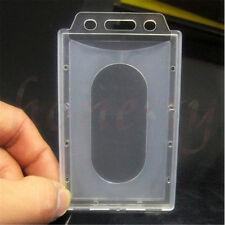 2pcs Clear Transparent Vertical Hard Plastic Multi Card ID Badge Holder