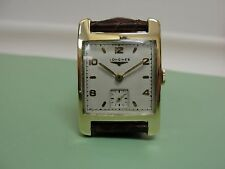 MENS VINTAGE LONGINES 14K GOLD WRISTWATCH CAL 23Z 1950S KEEPS TIME!