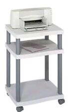 New Safco 1860GR Desk Side Printer Stand - 1 Each - Gray - Assembly Required