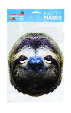 Sloth Animal Face Party Mask Card A4 Fancy Dress Ladies Men Kids Safari Zoo
