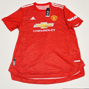 Adidas 20-21 Manchester Authentic Home Soccer Jersey Mens Size XL $130 GC7957
