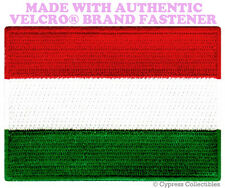 HUNGARY FLAG PATCH HUNGARIAN EMBLEM EMBROIDERED new w/ VELCRO® Brand Fastener