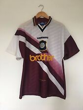 Retro MANCHESTER CITY 1996/97 Away Football Shirt (L) Vintage Soccer Jersey Man
