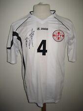 Georgia MATCH WORN away SIGNED football shirt soccer jersey trikot maglia size L