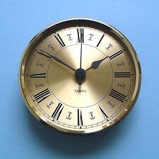 MEGA-QUARTZ  PREMIUM 100mm BEZEL QUARTZ CLOCK insert  gold roman dial