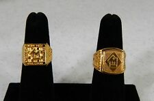 "2 Rings - 1930""s Tom Mix Straight Shooter & Stanhope Image Magnifier Rings"