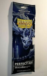 Dragon Shield Perfect Fit *SEALABLE* Card Sleeves Small/Japanese *CLEAR* 100pk