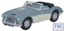 76AH3001 Oxford Diecast Austin Healey 3000  Blue_Ivory 1/76 Scale OO Gauge